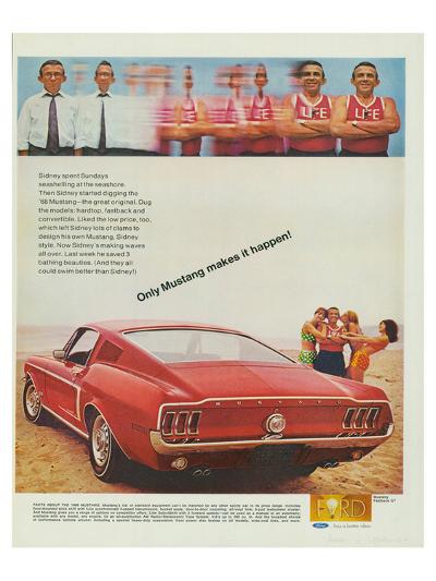 1968 Mustang Makes It Happen--Art Print