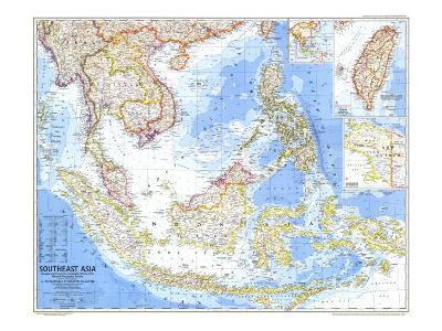 1968 Southeast Asia Map-National Geographic Maps-Art Print