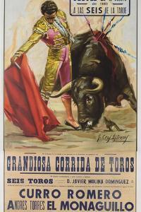 1968 Spanish Bullfight Poster Plaza De Toros De Fuengirola