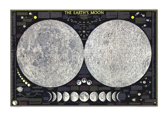 1969 Earths Moon Map Art Print by National Geographic Maps | Art.com