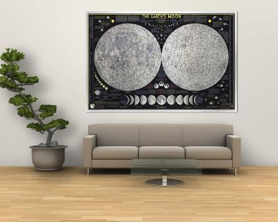 1969 Earths Moon Map-National Geographic Maps-Wall Mural