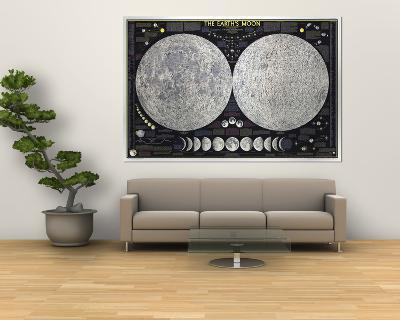 1969 Earths Moon Map-National Geographic Maps-Giant Art Print