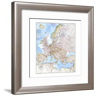 1969 Europe Map-National Geographic Maps-Framed Premium Giclee Print