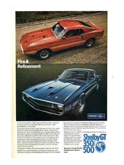 1969 Mustang Fire & Refinement--Art Print