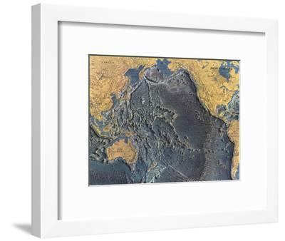 1969 Pacific Ocean Floor Map-National Geographic Maps-Framed Art Print