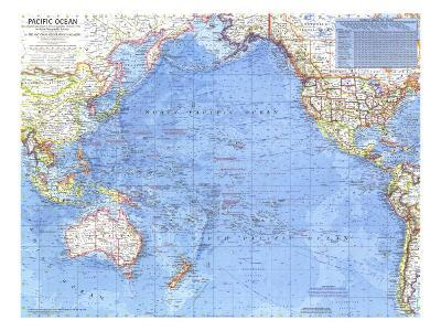 1969 Pacific Ocean Map-National Geographic Maps-Art Print