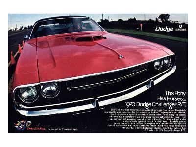 1970 Dodge Challenger Thispony--Art Print