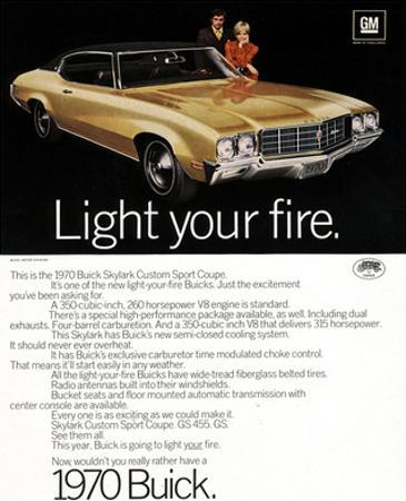 1970 GM Buick Light Your Fire
