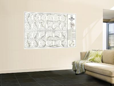 1970 Heavens Star Chart-National Geographic Maps-Wall Mural