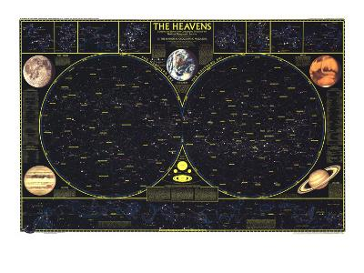 1970 Heavens-National Geographic Maps-Art Print