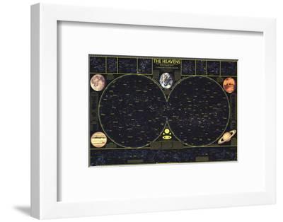 1970 Heavens-National Geographic Maps-Framed Art Print
