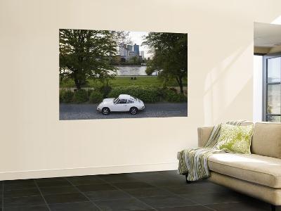 1970's Porsche 911, Riverside Park, Frankfurt-Am-Main, Hessen, Germany-Walter Bibikow-Wall Mural