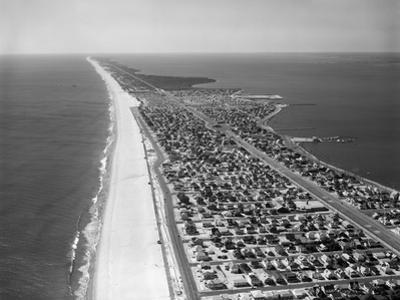 1970s-1980s Aerial of Jersey Shore Barnegat Peninsula Barrier Island Seaside Park New Jersey