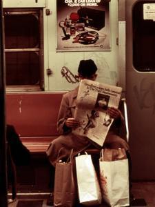 1970s America, Graffiti on a Subway Car, New York City, New York, 1972