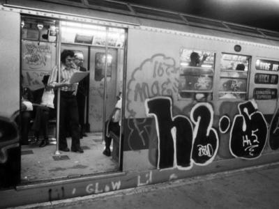 1970s America, Graffiti on a Subway Car on the Lexington Avenue Line. New York City, New York, 1972--Photo
