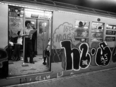 1970s America, Graffiti on a Subway Car on the Lexington Avenue Line. New York City, New York, 1972