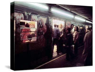 1970s America, Graffiti on a Subway Car on the Lexington Avenue Line. New York City, New York, 1972