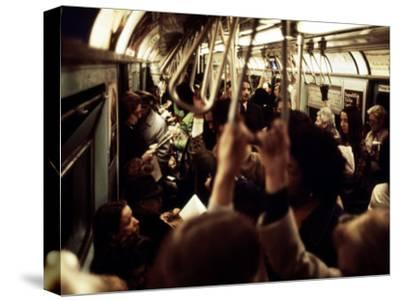 1970s America, Passengers on a Subway Car, New York City, New York, 1972