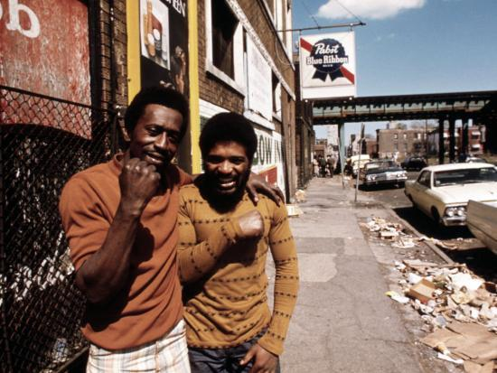 1970s America, Two Young Men on the South Side of Chicago, 1973--Photo