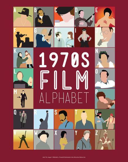 1970s Film Alphabet - A to Z-Stephen Wildish-Giclee Print