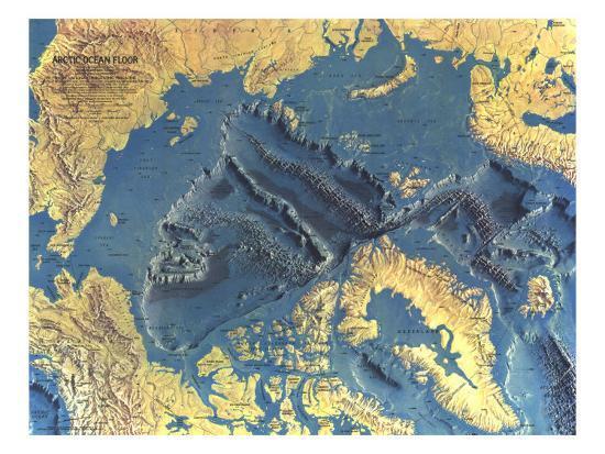 1971 Arctic Ocean Floor Map' Art Print