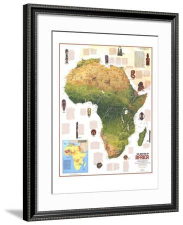 1971 Heritage of Africa Map-National Geographic Maps-Framed Art Print
