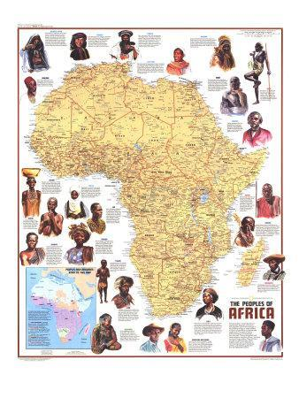 Map Of Africa Art.1971 Peoples Of Africa Map Art Print By National Geographic Maps