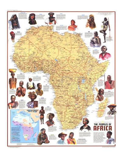1971 Peoples of Africa Map-National Geographic Maps-Art Print
