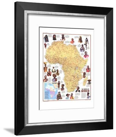 1971 Peoples of Africa Map-National Geographic Maps-Framed Art Print
