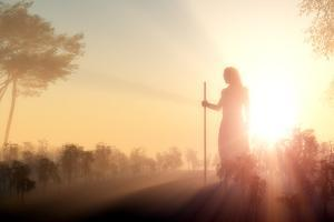 Silhouette of Jesus in the Sunlight by 1971yes
