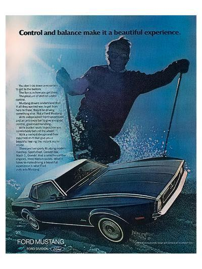 1972 Control & Balance Mustang--Art Print