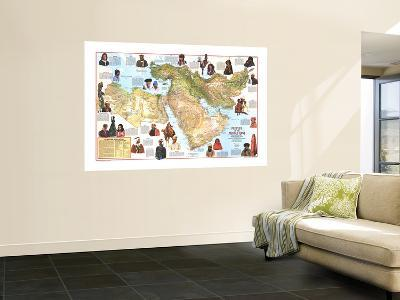 1972 Peoples of the Middle East Map-National Geographic Maps-Wall Mural