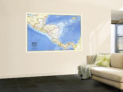 1973 Central America Map-National Geographic Maps-Wall Mural