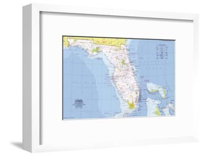 1973 Close-up USA, Florida Map-National Geographic Maps-Framed Art Print