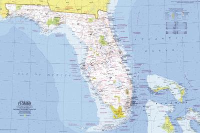 1973 Close-up USA, Florida Map-National Geographic Maps-Wall Mural