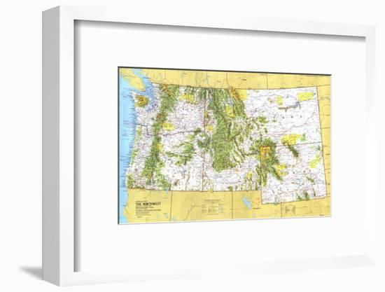 1973 Close-up USA, Northwest Map-National Geographic Maps-Framed Art Print