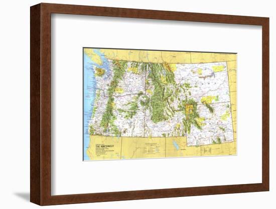 1973 Close-up USA, Northwest Map-National Geographic Maps-Framed Art Print