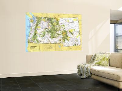 1973 Close-up USA, Northwest Map-National Geographic Maps-Wall Mural