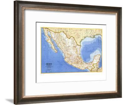 1973 Mexico Map-National Geographic Maps-Framed Art Print