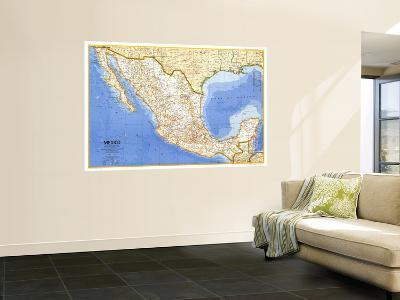 1973 Mexico Map-National Geographic Maps-Wall Mural
