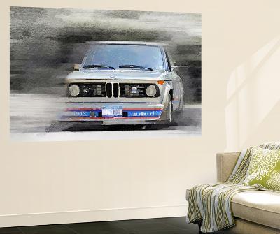 1974 BMW 2002 Turbo Watercolor--Wall Mural