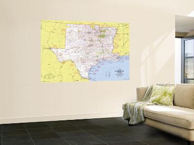 1974 Close-up USA, South Central States Map-National Geographic Maps-Giant Art Print