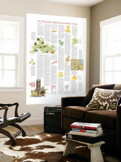 1974 Travelers Map of the British Isles Theme-National Geographic Maps-Wall Mural