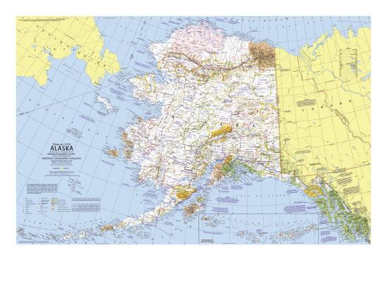 1975 Close Up Usa Alaska Map Art Print By National Geographic Maps