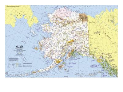 1975 Close-up USA, Alaska Map-National Geographic Maps-Art Print
