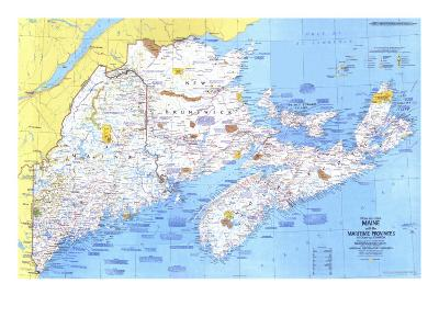 1975 Close-up USA, Maine Map-National Geographic Maps-Art Print