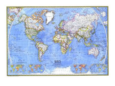 1975 Political World Map-National Geographic Maps-Art Print