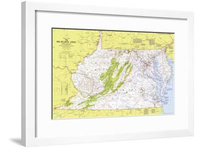 1976 Close-up USA, Mid-Atlantic States Map-National Geographic Maps-Framed Art Print