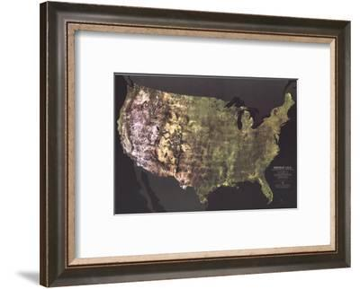 1976 Portrait USA Map-National Geographic Maps-Framed Art Print