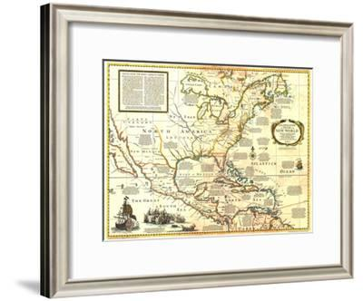 1977 Colonization and Trade in New World-National Geographic Maps-Framed Art Print
